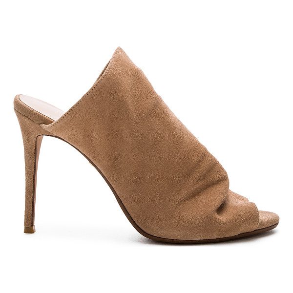 RAYE Banks Mule - Suede upper with man made sole. Slip-on styling. Gathered...