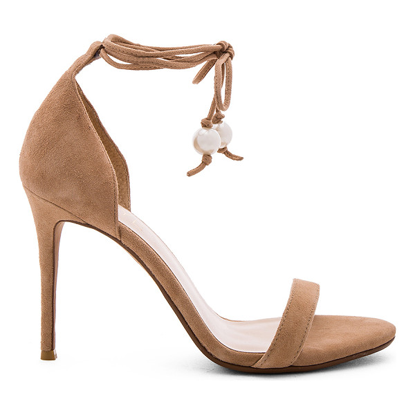 RAYE Becca Heel - Suede upper with man made sole. Wrap ankle with tie...