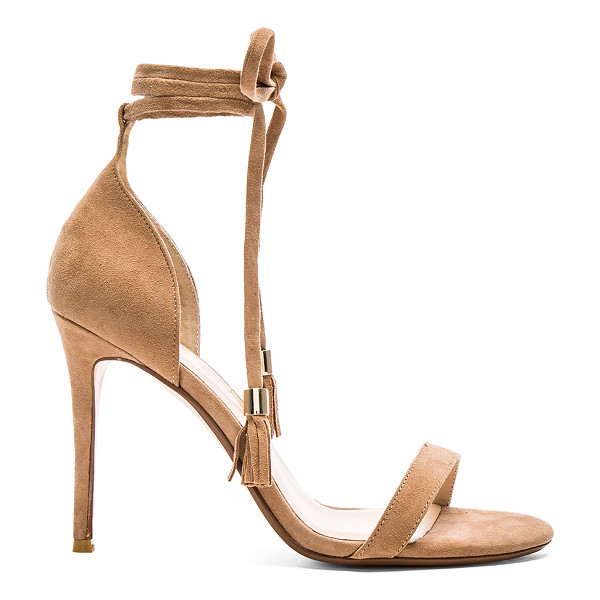 RAYE Bennie Heel - Suede upper with man made sole. Wrap tie closure with...