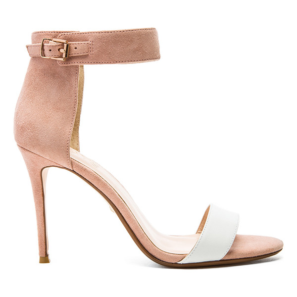 RAYE Betty heel - Suede upper with man made sole. Buckle closure. RAYE-WZ48....