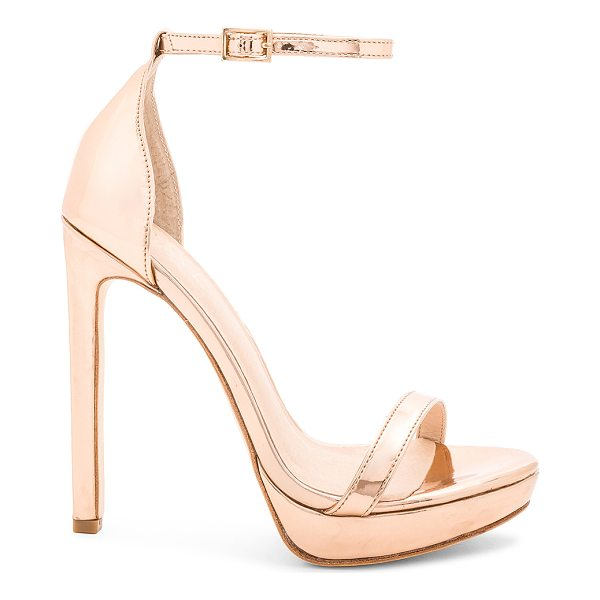 RAYE Brynne Heel - Metallic man made upper with leather sole. Ankle strap with...