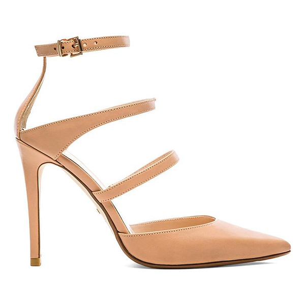 """RAYE Carrie Heel - Leather upper with man made sole. Heel measures approx 4""""""""..."""