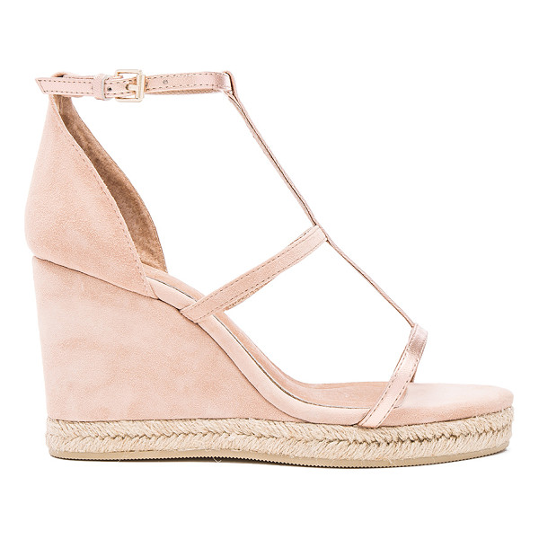 RAYE Dillon Wedge - Suede and metallic leather upper with man made sole. Ankle...