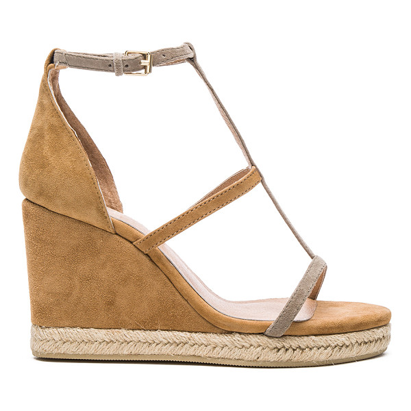 RAYE Dillon Wedge - Suede upper with man made sole. Ankle strap with buckle...