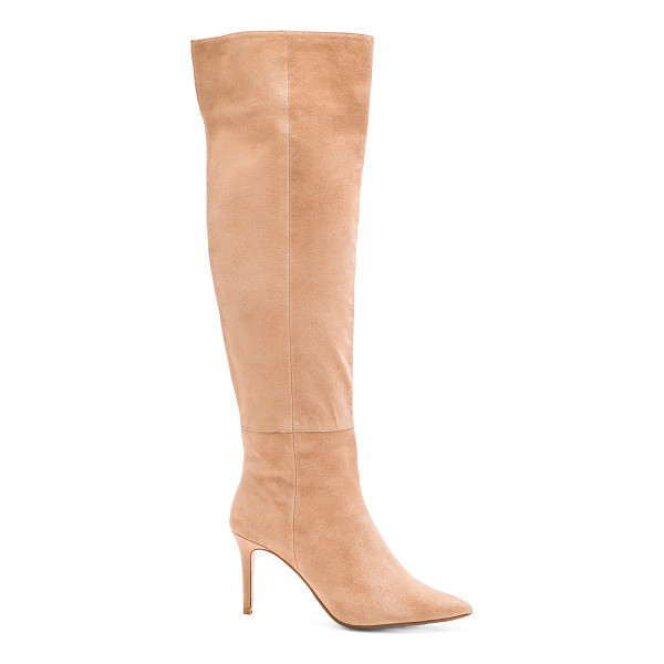 RAYE Drea boot - Suede upper with man made sole. Side zip closure. Heel...