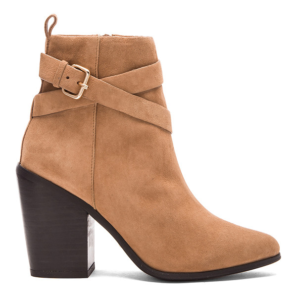 RAYE Erin bootie - Suede upper with man made sole. Buckle accent. Side zip...