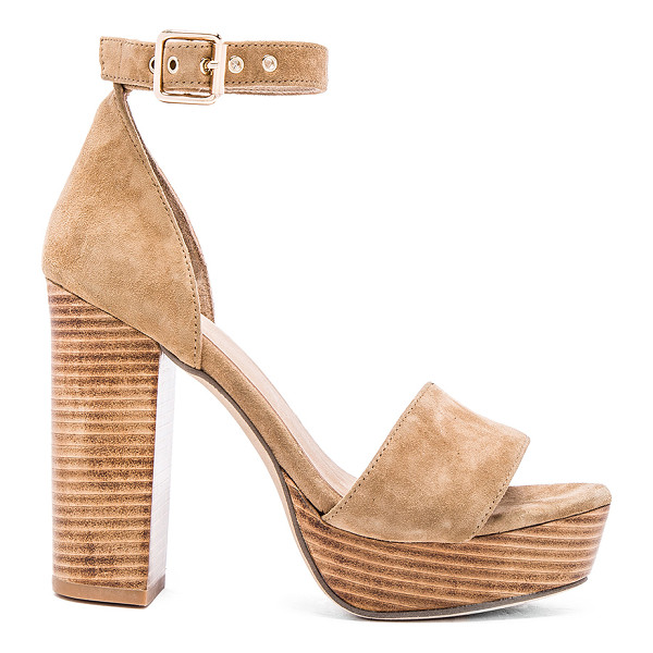 RAYE Hannah platform - Suede upper with man made sole. Ankle strap with buckle...