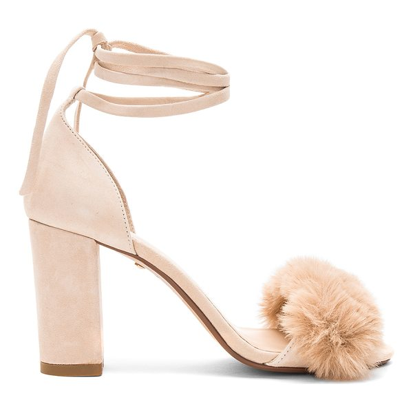 "RAYE Lacey Faux Fur Heel - ""Suede upper with man made sole. Wrap ankle with tie..."