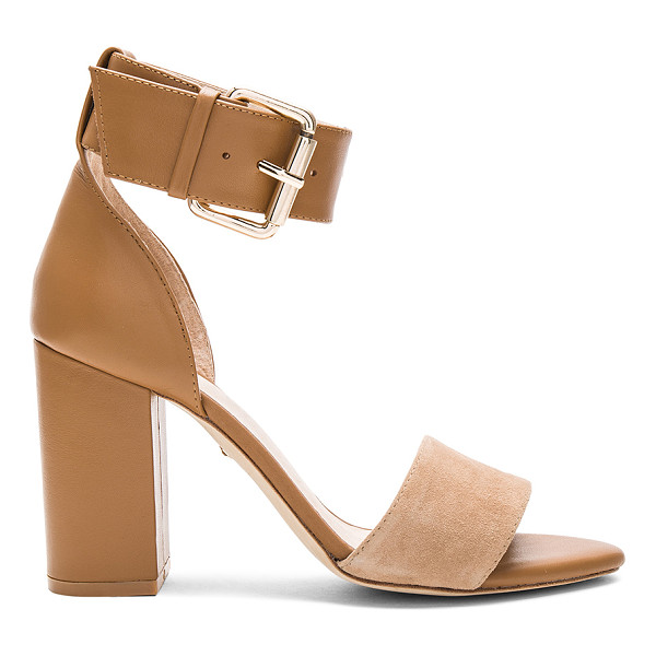 RAYE Leia Heel - Taking the next step up. RAYE's Leia Heels features a gold...