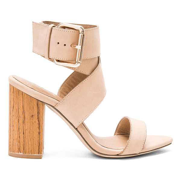 """RAYE Lexie Heel - """"Leather upper with man made sole. Wrap ankle strap with..."""