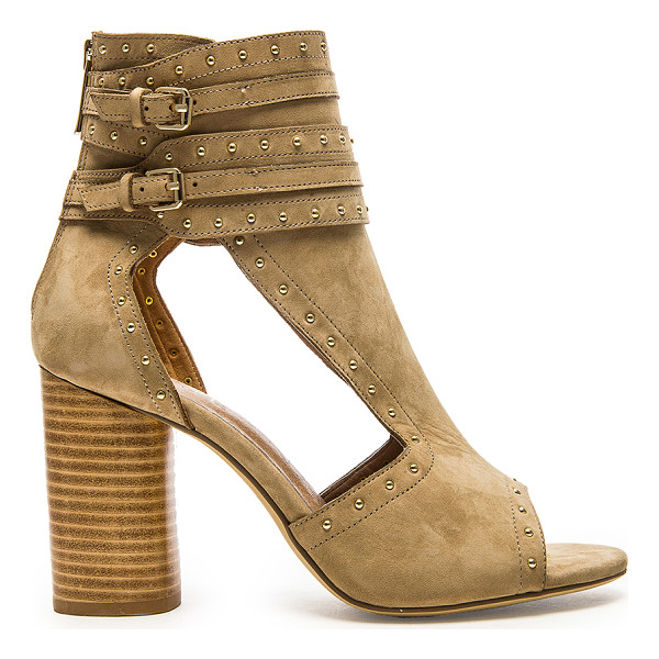 RAYE Matty Heel - Suede upper with man made sole. Heel measures approx 3.5""""