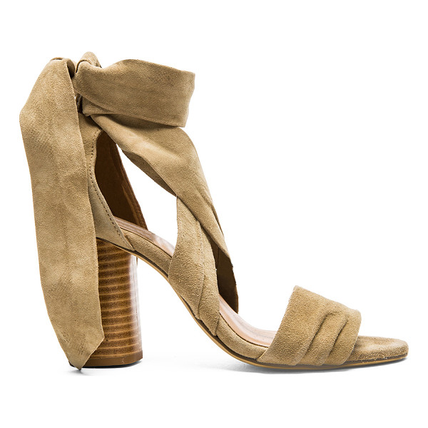 RAYE Mia Heel - Suede upper with man made sole. Wrap tie closure. Heel...