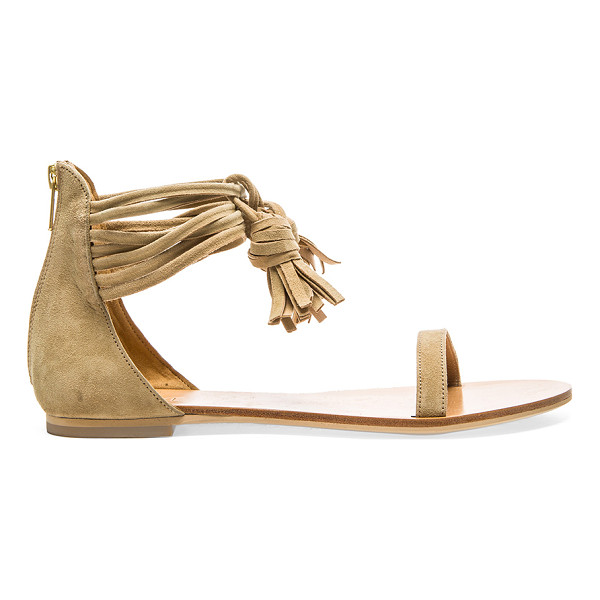 RAYE Skye Sandal - Suede upper with man made sole. Wrap tie closure with...