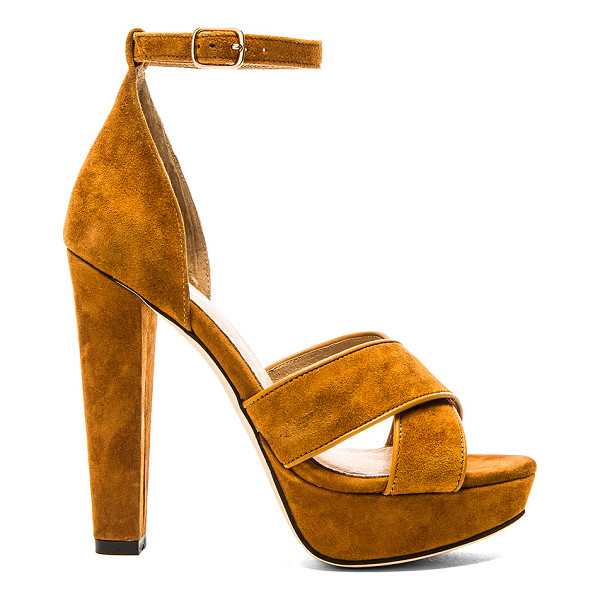 """RAYE Su2c x revolve hedi platform - Suede upper with man made sole. Heel measures approx 4.5""""""""..."""