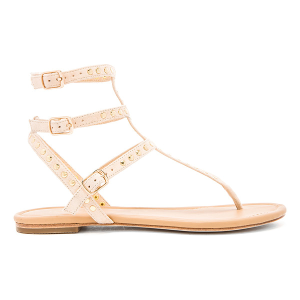 RAYE Sylvie sandal - Studded suede upper with leather sole. Multi buckle...
