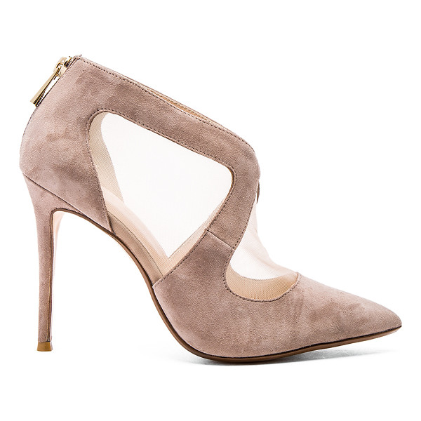 RAYE Tabitha pump - Mesh and suede upper with man made sole. Back zip closure....