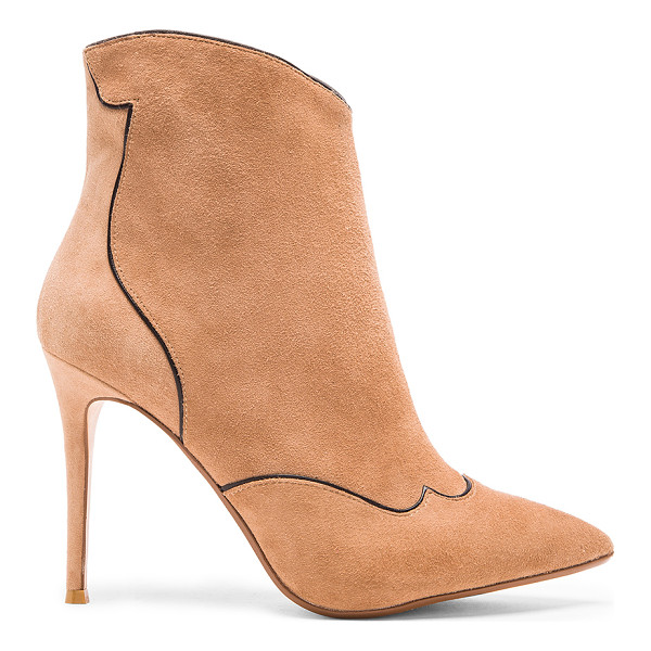 RAYE Talen bootie - Suede upper with man made sole. Contrast color trim. Side...