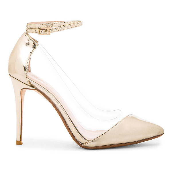 RAYE Tara Pump - Metallic leather and vinyl upper with man made sole. Wrap...