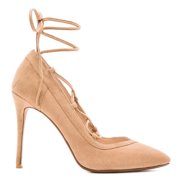 RAYE Taylor Pump - Suede upper with man made sole. Lace-up front. Heel...
