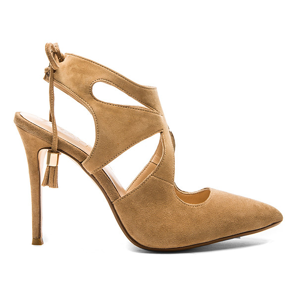RAYE Tellie pump - Suede upper with man made sole. Cut-out detail. Lace-up...