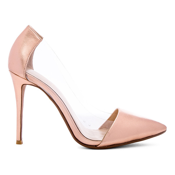 RAYE Terry Pump - Metallic leather and vinyl upper with man made sole. Heel...
