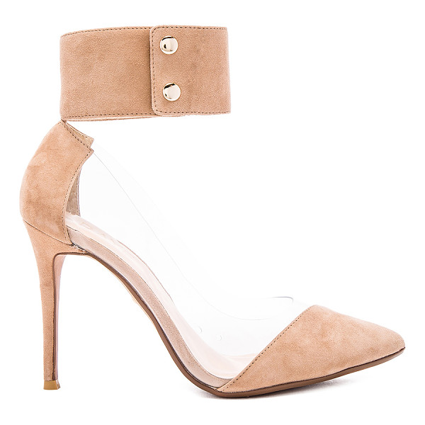 RAYE Tory pump - Suede and vinyl upper with man made sole. Ankle strap with...