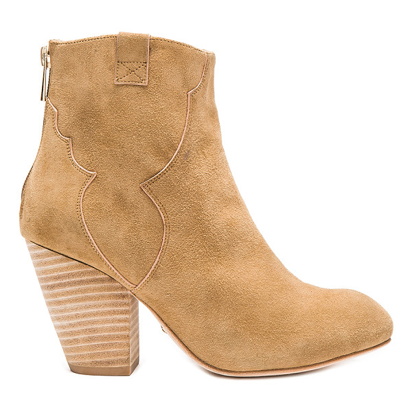 RAYE Vivi bootie - Suede upper with leather sole. Back zip closure. Heel...