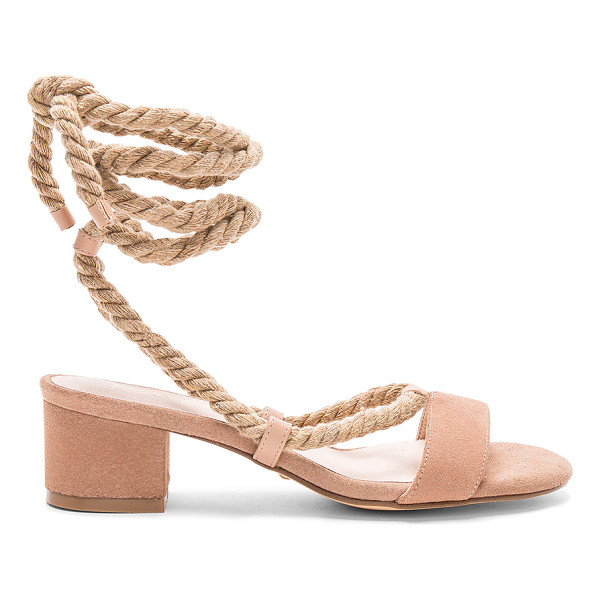 RAYE x REVOLVE Soto Sandal - A simple wrap detail, modest block heel, and smooth suede