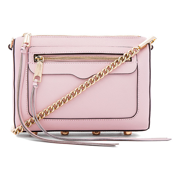 REBECCA MINKOFF Avery crossbody - Leather exterior with jacquard fabric lining. Zip top...