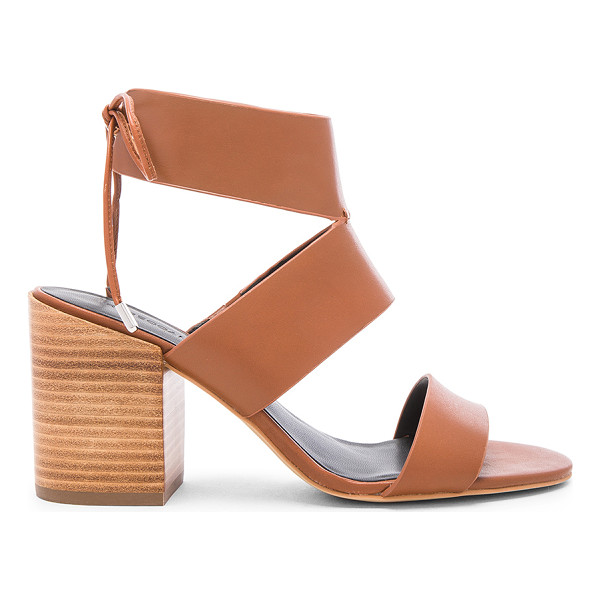 REBECCA MINKOFF Christy heel - Leather upper with man made sole. Back tie closure. Heel...