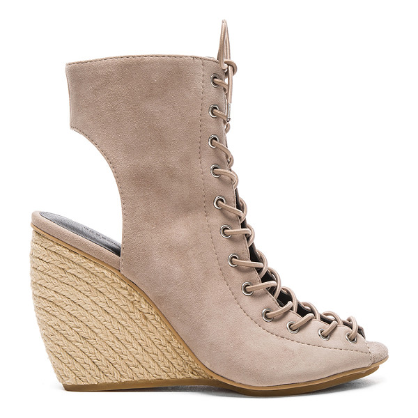 REBECCA MINKOFF Elle Heel - Suede upper with rubber sole. Lace-up front with tie...