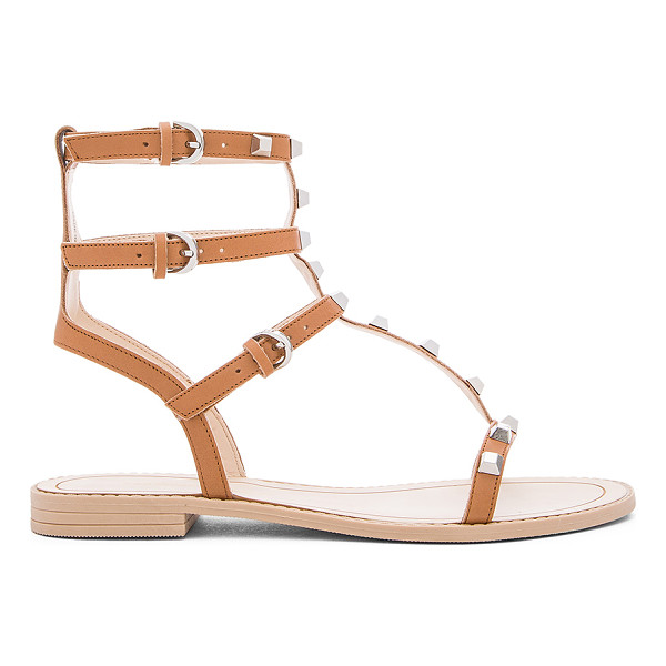 REBECCA MINKOFF Georgina Sandal - Leather upper with rubber sole. Ankle straps with buckle...