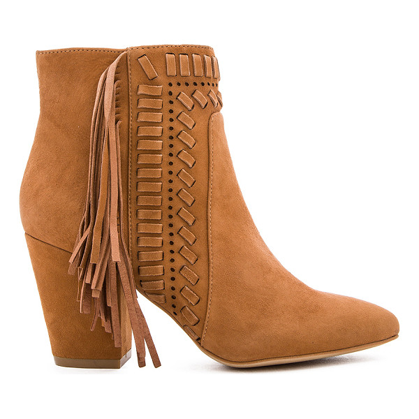 REBECCA MINKOFF Ilan Bootie - Suede upper with man made sole. Side zip closure. Fringed,...