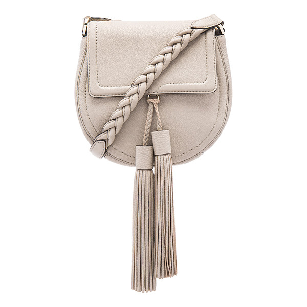 REBECCA MINKOFF Isobel saddle bag - Leather exterior with jacquard fabric lining. Flap top with...