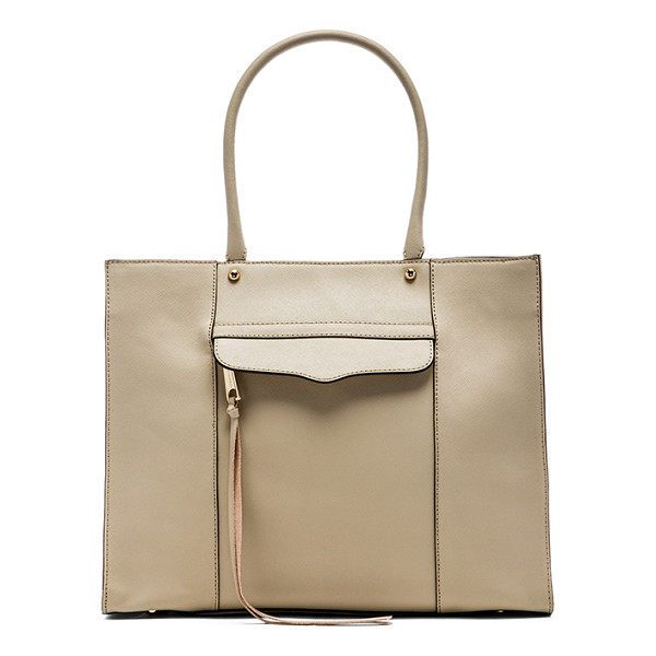 REBECCA MINKOFF Medium mab tote - Leather exterior with printed fabric lining. Measures...