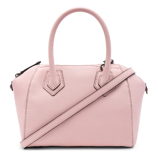 REBECCA MINKOFF Micro perry satchel bag - Leather exterior with jacquard fabric lining. Zip top...