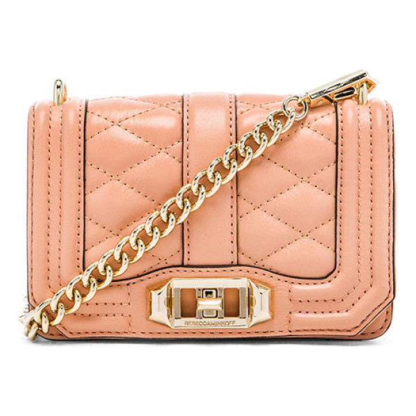 REBECCA MINKOFF Mini love crossbody - Quilted leather exterior with printed fabric lining....