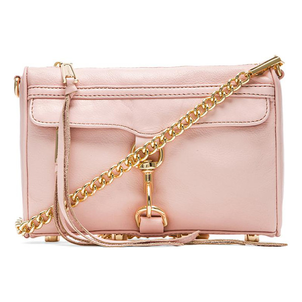 REBECCA MINKOFF Mini mac - Leather exterior with printed fabric lining. Measures...