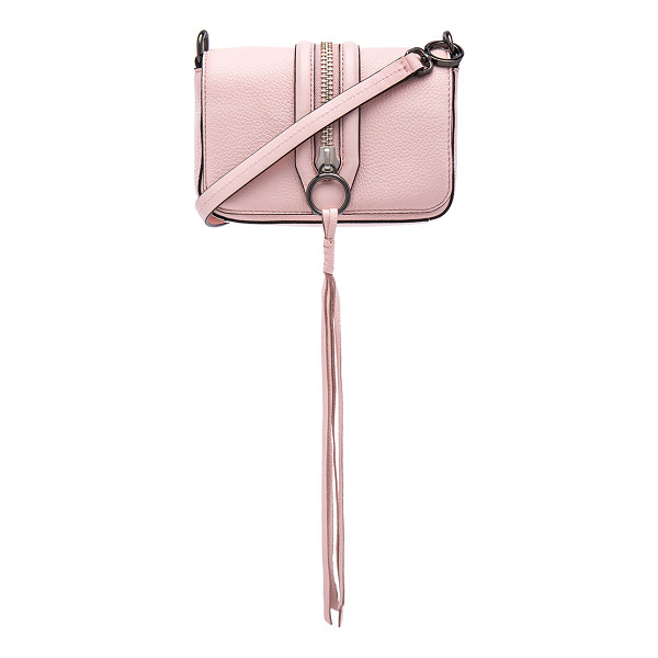 REBECCA MINKOFF Mini mara crossbody bag - Leather exterior with jacquard fabric lining. Flap top with...