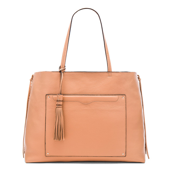 REBECCA MINKOFF Panama tote bag - Leather exterior and lining. Top clasp closure. Exterior...