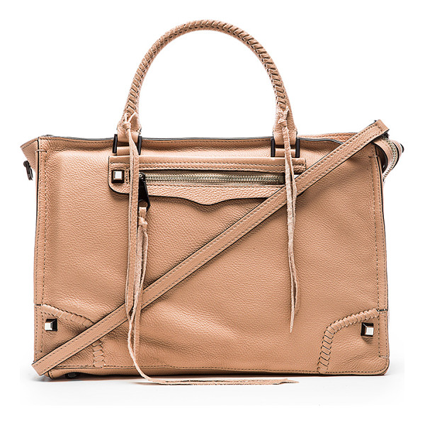 REBECCA MINKOFF Regan satchel - Leather exterior with jacquard fabric lining. Detachable...