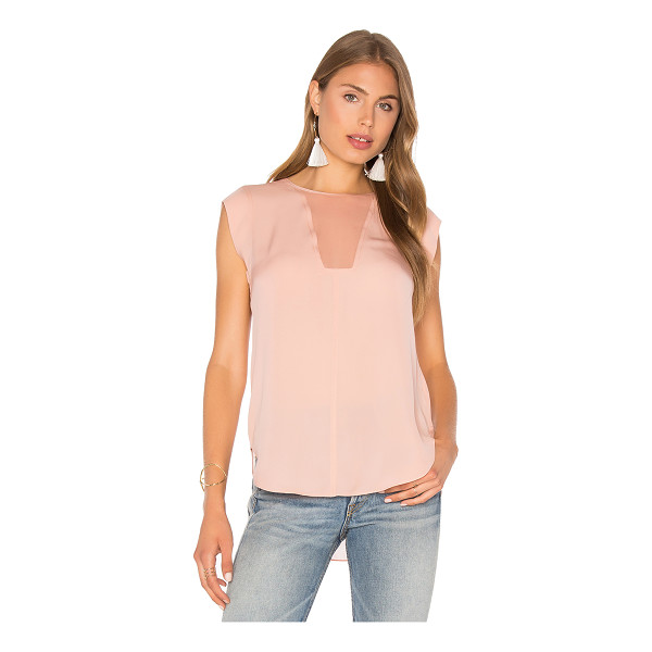 REBECCA TAYLOR Charlie Top - 100% silk. Dry clean only. Back button closure. Sheer...