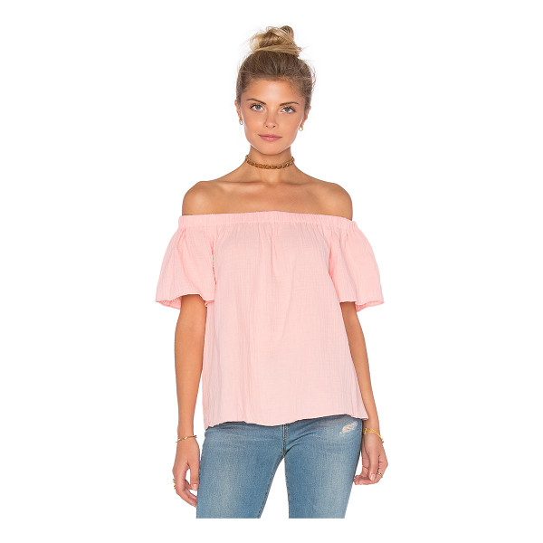 REBECCA TAYLOR Off The Shoulder Gauze Top - 100% cotton. Dry clean recommended. Elasticized neckline....