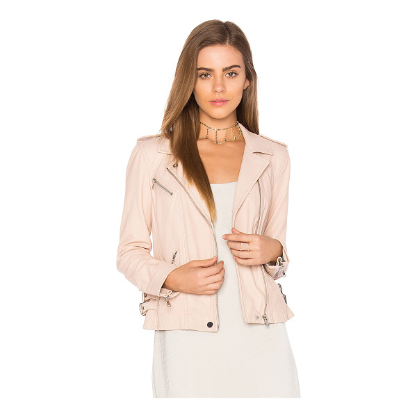 REBECCA TAYLOR Washed Leather Jacket - Shell: 100% genuine leatherBody Lining: 100% lyocellSleeve...