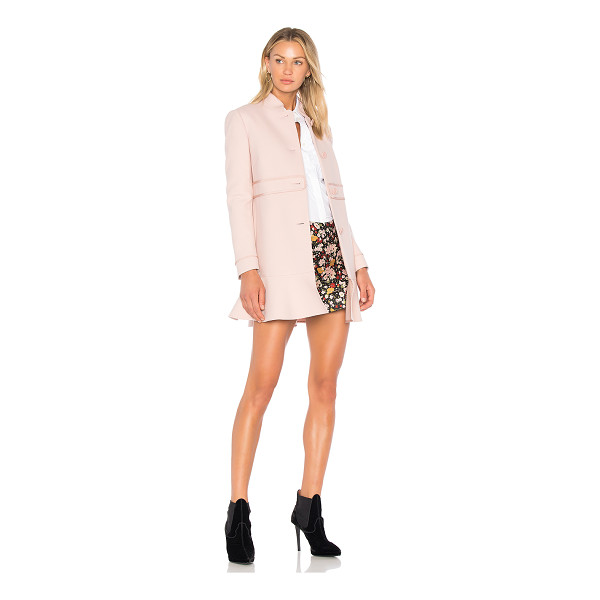 RED VALENTINO Peplum Coat - Red Valentino takes a romantic stance on outerwear with the...