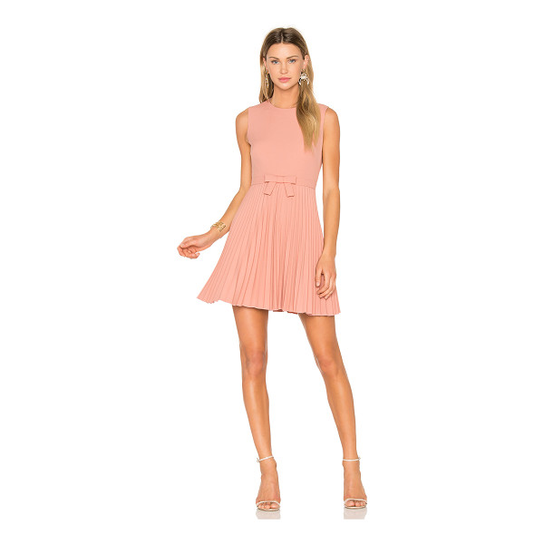 RED VALENTINO Sleeveless Pleated Mini Dress - Sugary sentiment is channelled through the precious styling...