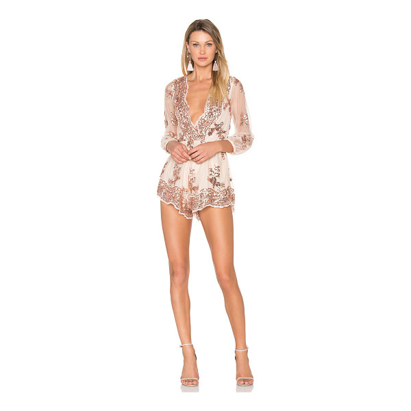 REVERSE Glow Up Romper - 100% poly. Hand wash cold. Back hidden zipper closure....