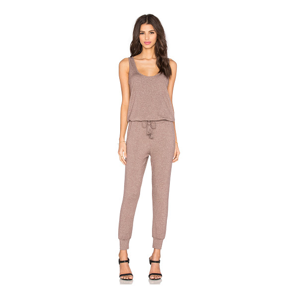 RILLER & FOUNT Ali Sleeveless Jumpsuit - Modal blend. Dry clean only. Drawstring waist. Cuffed hem....