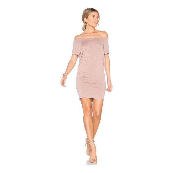 RILLER & FOUNT Dwight Off Shoulder Tunic Dress - 74% rayon 21% poly 5% spandex. Dry clean only. Unlined....