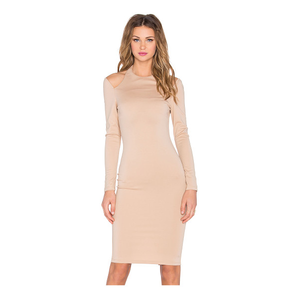 RISE Royals Only Cut Out Midi Dress - Self: 95% poly 5% spandexLining: 100% poly. Unlined....